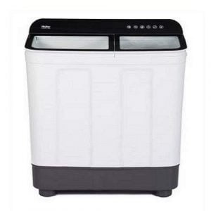 Haier 10 Kg Semi-Automatic Top Loading Washing Machine (HTW100-178BK, Black & White) - Kay Dee Electronics