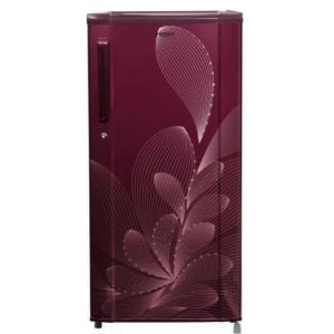Haier 181 L (HRD-1812BRO-E) Direct Cool Single Door 2 Star Refrigerator, Red Ornate
